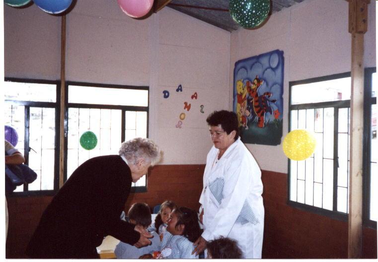 Children meeting a great sponsor